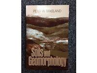 Soils and Geomorphology - Peter W Birkeland