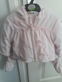 Pink cosy jacket 6-12 month