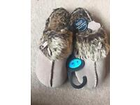 New M&S real suede ladies slippers size 5