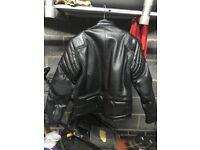 Black Motorcycle Leathers