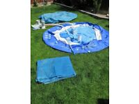 8Ft Prompt Set Pool with Filter, Chemicals, Cleaning Kit, Cover & Ground Sheet