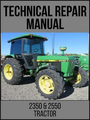 John Deere 2350 2550 Tractors Technical Manual Tm4403 Usb Drive