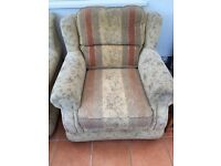 Three piece suite comprising 3 seater sofa and 2 armchairs