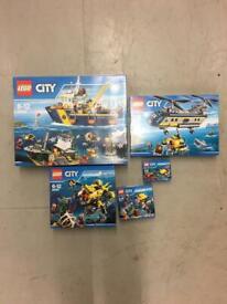 Brand new sealed Lego deep sea exploration set 60090,60091,60092,60093 & 60095