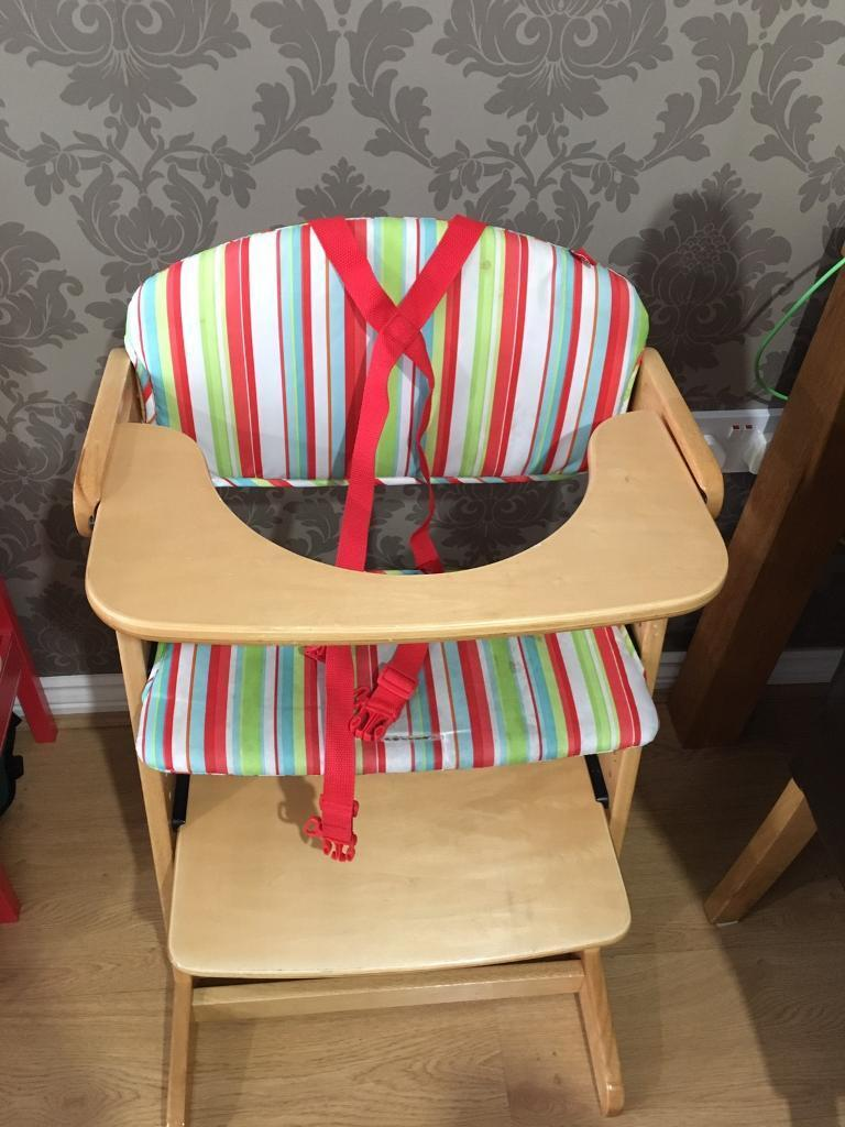 Wooden High Chair With Tray In Chatteris Cambridgeshire Gumtree