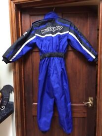 Motor Cross / Race Suit & Gloves Childs age 6-7 years old