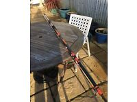 Kassnar Fishing rod - spinning rod 12' and reel