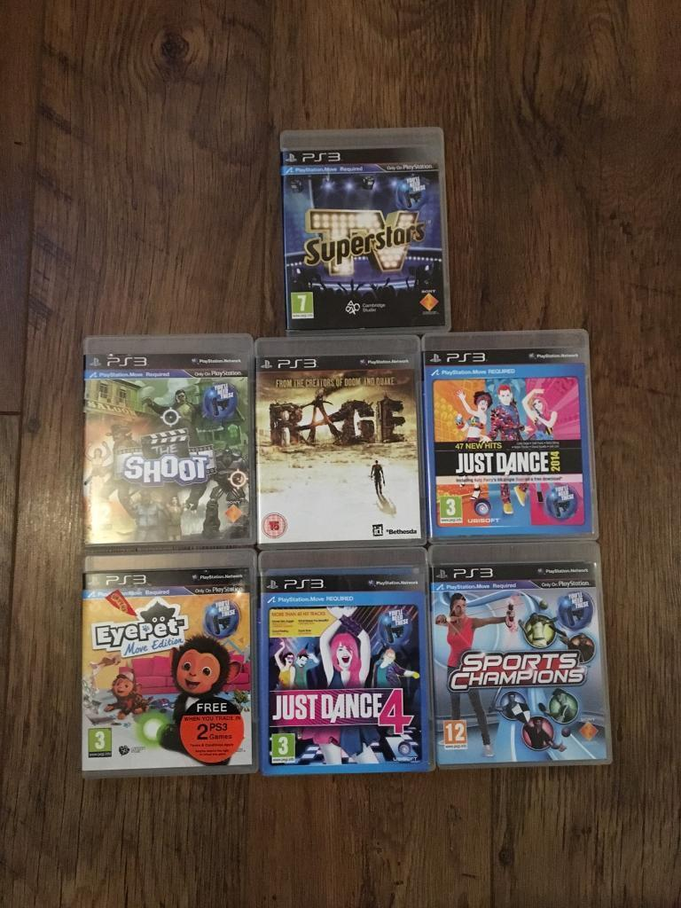 PS3 in box with games and accessories
