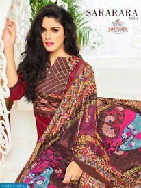 SAMAIRA SARARARA VOL-2 WHOLESALE COTTON WORK INDIAN DRESS MATERIAL