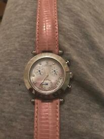 Genuine Pink Klaus Kobec Ladies strap watch