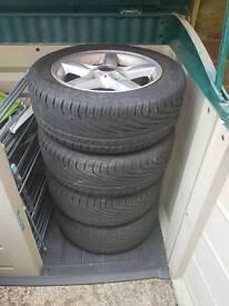 """Bmw wheesl 16"""" 2015 rain tyres"""