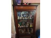 Vintage solid wood display cabinet