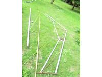 steel roof truss 13ft 3ins wide from greenhouse/workshop