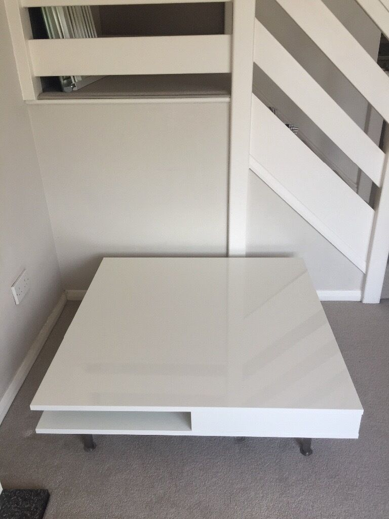 Ikea Tofteryd Coffee Table White Gloss In Hertford  # Tofteryd Meuble Tv