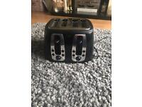 Black Russell Hobbs 4 slice toaster
