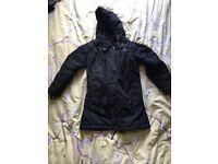 Trespass girls black winter coat age 3-4