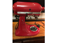 kitchenaid artisan mixer in red