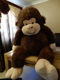 "Cuddly toy: Hugfun 53"" (134cm) Plush Sitting Monkey"