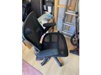 Office chair with collapsible arm rest (Used)
