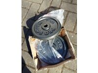 BRAND NEW 2 x 10kg CAST IRON PLATES
