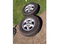"""Land Rover Discovery TD5 Alloy wheels and tyres 16"""" also fit VW T5"""