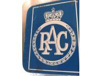 R.A.C. 1960 MINI FIRST AID TIN BOX/ GOOD CONDITION FOR AGE