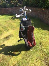 Children's golf clubs and. Bag