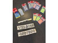 Blu Tack + NEW coloured numbers and letters stickers (L, M, S sizes) + blank labels_£5 for ALL