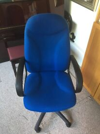 Used Blue Swivel Office Chair