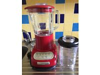 Kitchenaid artisan blender with spare smaller jug.