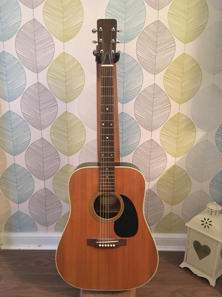 Vintage Yasuma 1970 BM Jumbo 155 acoustic guitar Martin D28 clone | in  Alloa, Clackmannanshire | Gumtree