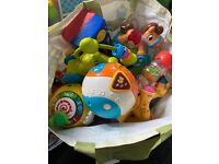 Bag of baby toys from 0-3