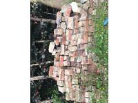 200 red bricks taken out from old wall