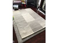 Cream patterned Rug B&Q Excellent Condition