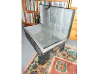 Metal Trunk, Tin Chest, Toy Box, Log Box, Coffee Table