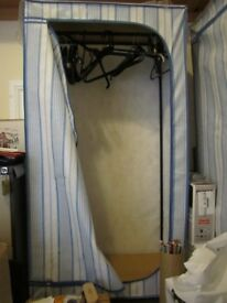 3 Free standing wardrobes H57 inches, W29 inches, D19 inches – three all in perfect new condition.