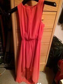New Look Salmon Dip Hem Dress XS/Age 12