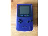 Gameboy Color (purple) w/ games