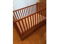 California Solid Wood Cot / Junior Cot Bed 140cm x 70cm