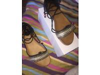Gladiator Sandals (Black)