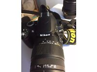 Nikon D60 DSLR Camera With Sigma AF 18-50mm F2.8 EX Macro DC Lens, And Accessories