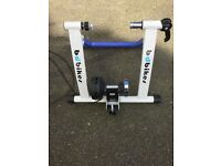 Portable fold away bike trainer