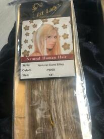 Hair extensions x2 human hair brand new