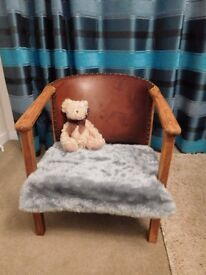 Small arm chair. Up cycled.