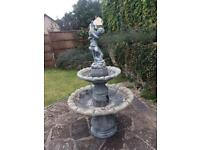 2 tier stone water feature