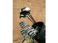 Full set of Dunlop graphite golf clubs