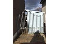 Beautiful iron side gate and fence