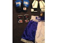 Brand new shorts with 2pairs of brand new boxing gloves