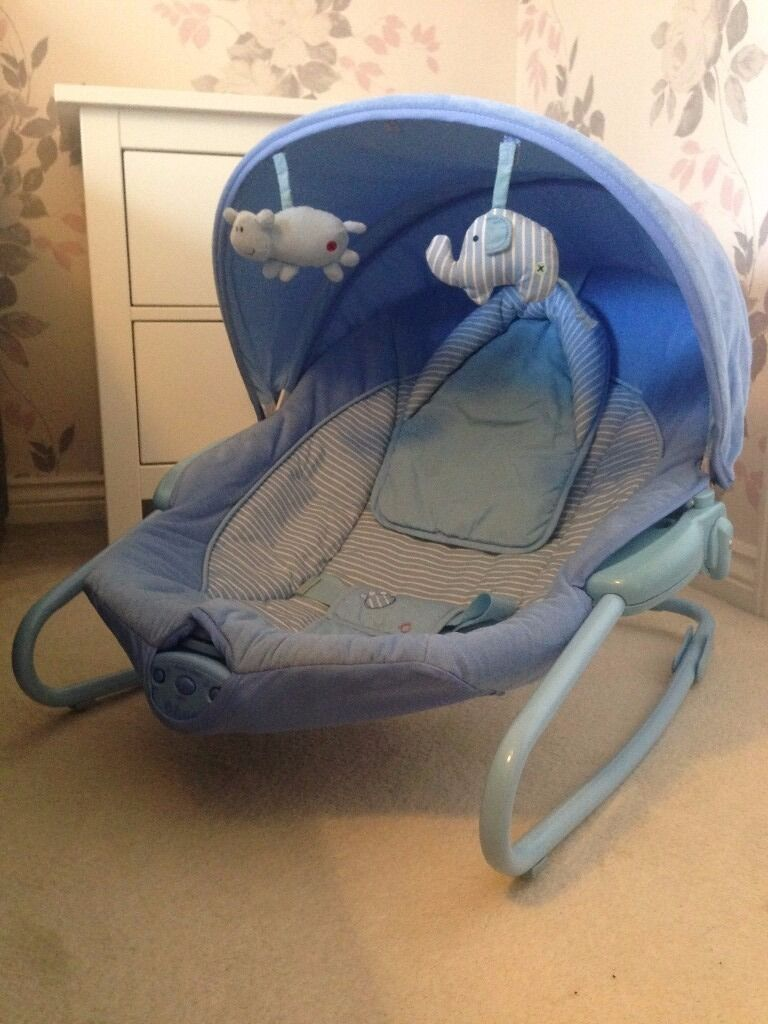 Toys R Us Baby Blue Bouncer Used Condition In Rhiwbina Cardiff