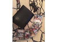 Playstation 3 Slim 12gb with games one controller